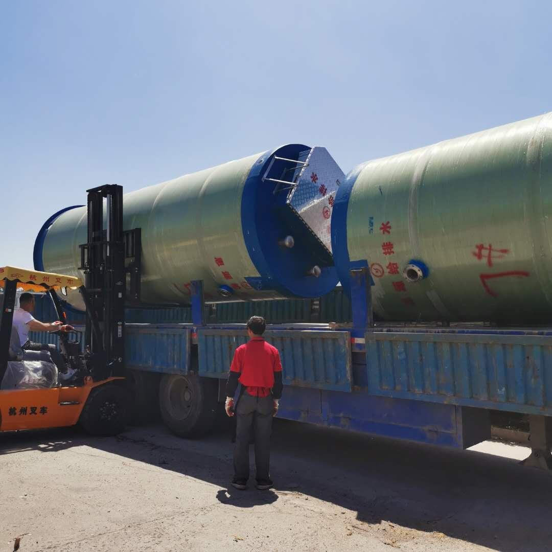 盐城2台2x6.5m一体化预制泵站发货